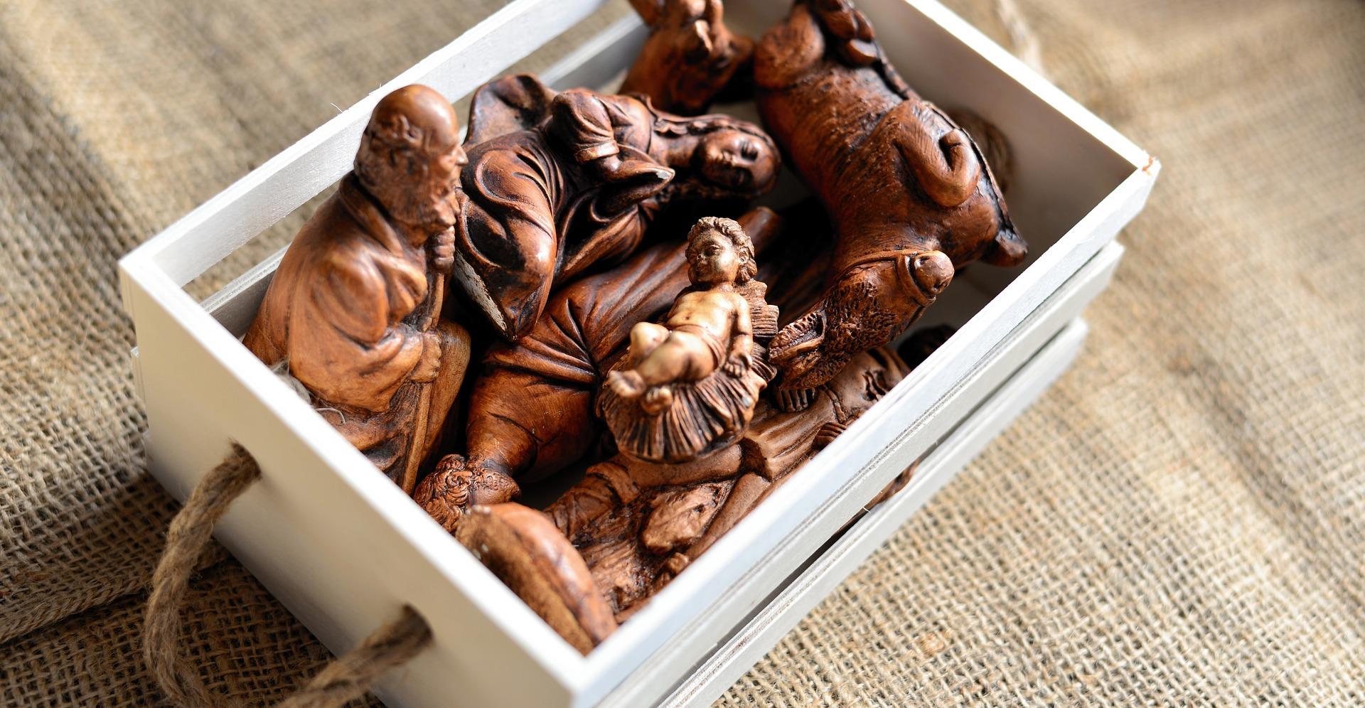 Josef und Krippenfiguren